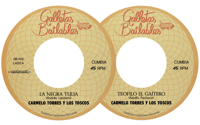 OUT NOW! limited 7″ vinyl. Carmelo Torres y Los Toscos. Cumbia!